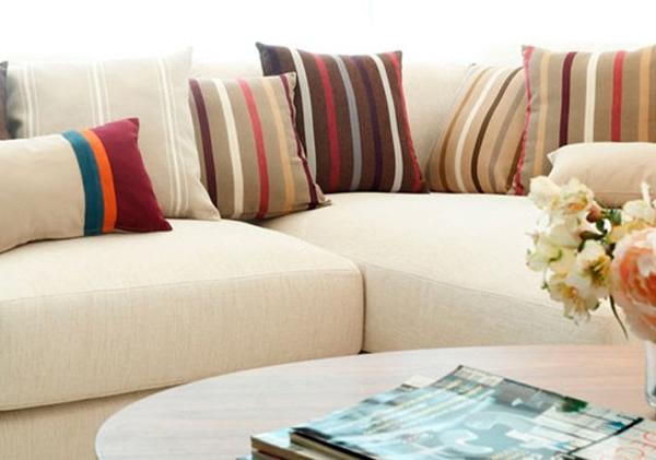 Las rayas una de las ltimas tendencias en decoraci n interior divani living room sets - Ultimas tendencias en decoracion de unas ...
