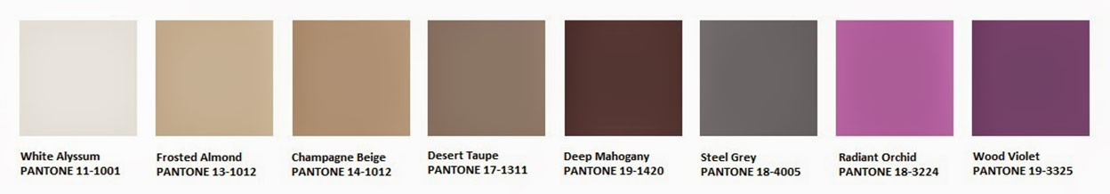 Paletas de colores 2015 seleccionadas por pantone style for Paleta de grises para paredes